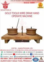 Vertical Hand Operated Jewellery Wire Drawing Machine Max Inlet Wire Diameter 3-6 mm