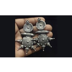 Crafty Antique Indian Silver Finish Earring
