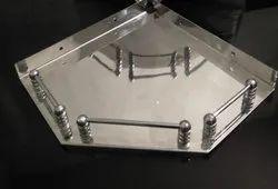 SS Stainless Steel corner shelf, For Bathroom
