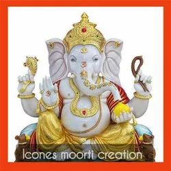 Colorful Marble Ganesh Statue