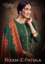 Belliza Designer Studio Nizam e Patiala Vol 2 Pashmina With Embroidery Work Dress Material