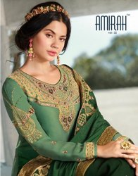 Amirah Vol 32 Fantastic Satin Georgette With Heavy Duppata And Bottom Work Salwar Kameez Catalog