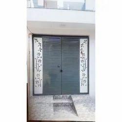 Powder Coated Designer Mild Steel Gate, For Home