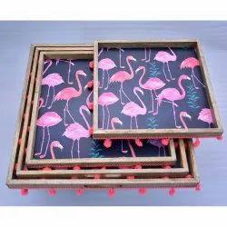 CII-705 Wooden Enamel Tray
