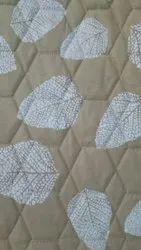 For Textile Leaf Print Satin Cotton Fabric