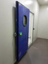 Blue Aluminium, PUF Panel Cold Room Sliding Door, Powder Coated, Size/Dimension: 1000 X 2000 Mm (hxw)
