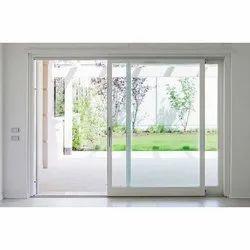 Glass Guard Closet Doors White UPVC Sliding Door, Interior