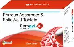 Ferrous Ascorbate And Folic Acid Tablets (ferogyl-xt)