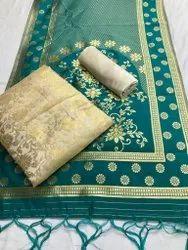 Nivera Multicolor Banarasi Salwar Suit Materials
