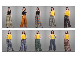 Rayon Printed Palazzo for Women (Multiprint)