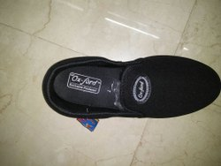 Oxford Black Canvas Casual Shoes, Size: 8