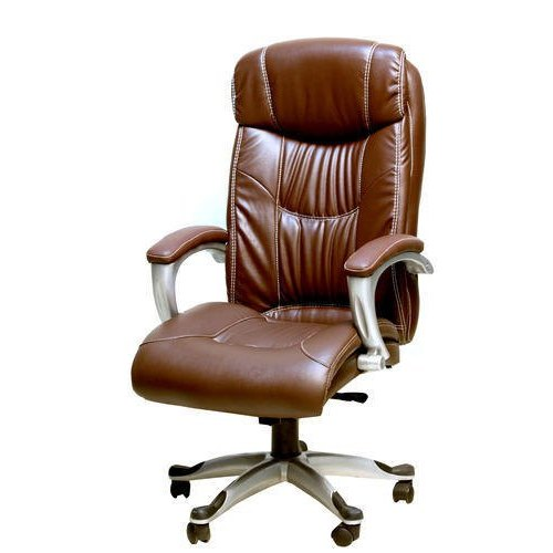 Brown High Back Leather Office Chair Rs 5999 Piece Wadhwana Interiors Id 22699680897
