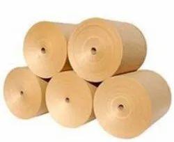 Plain Wood Pulp Brown Kraft Paper, 50 To 250gsm