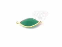 Handmade S Shape Gemstone Bezel Connector