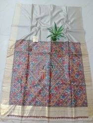 Halim Formal Wear Screen Printed Saree, 6.3 M (with Blouse Piece)