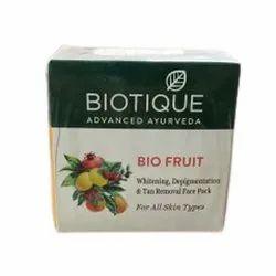 Cream Biotique Bio Fruit Whitening Depigmentation & Tan Removal Face Pack