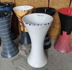 Ceramic Pedestal Double Colour One Piece Wash Basin, For Hotel