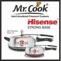 Silver Wrought Aluminium Mr.cook Hisense Pressure Cooker, For Home, Capacity: 5 Litres, 1.5 Litres