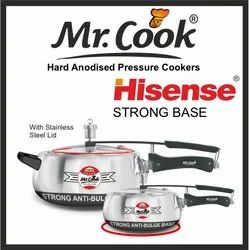 Silver Wrought Aluminium Mr.Cook Hisense Pressure Cooker, For Home, Capacity: 5 Litres,1.5 Litres