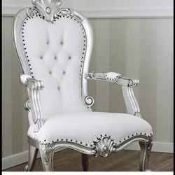 white Wrought Iron Wooden Sofa Chair, For Home