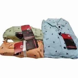 John Leo Collar Neck Mens Cotton Shirt, Size: M-XXL