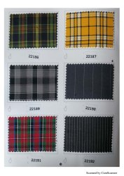Poly Cotton Close Up Check School Uniform Fabric
