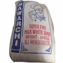 50 Kg Super Fine Milk White Sago Seeds, Grade: Food Grade, Packaging Type: PP Bag