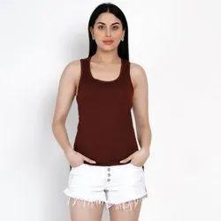 Women Tank Top Sleeveless Top, Size: S-XXL
