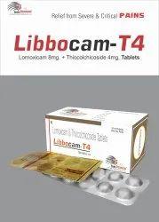 Libbocam T4 Tablet Lornoxicam 8mg Thiocolchicoside 4mg