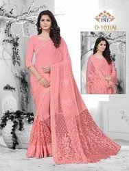 Trendy sarees, 5.5 m (separate blouse piece)