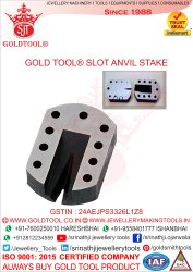 Gold Tool Slot Anvil Gold Smith Tools