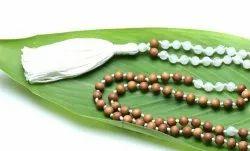 Gemstone Mala With Sandalwood Beads
