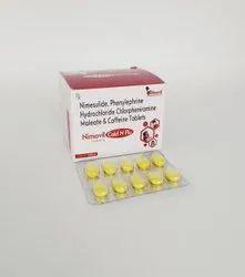 Nimesulide, Phenylpherin ,Hydrochloride, Chlorpheniramine Maleate & Caffeine Tablet