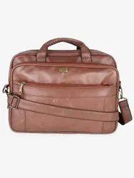 Yelloe Brown Solid Laptop Messenger Bag