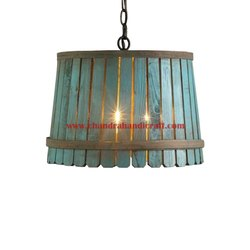 Chandra Handicraft Wooden Lamp, For Decoration