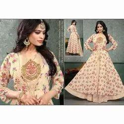 Embroidery Ladies Fancy Wedding Wear Gown