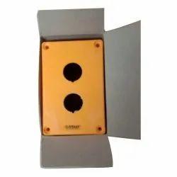 Plastic Rectangular Push Button Empty Box