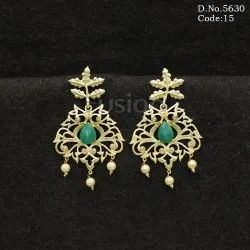 Matt Polish Chandbali Earrings