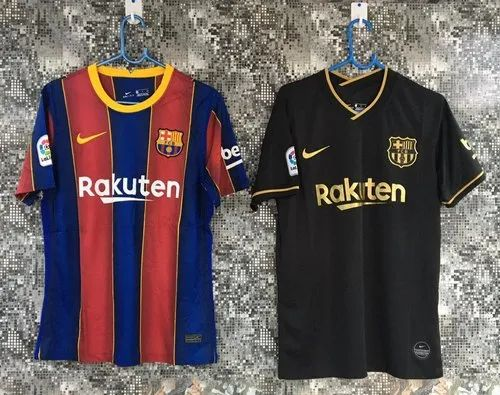 multicolor dry fit fc barcelona soccer football jersey home away third kit rs 549 piece id 22702602912 indiamart