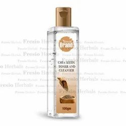 Herbal Chia Seeds Toner and Cleanser, Type Of Packaging: Bottle, Packaging Size: 100 Gm