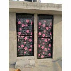 Black Aluminium Decorative Aluminum Door, Single, Thickness: 19 Mm