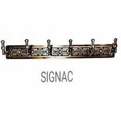 Screw in Signac Coat Hook, Brass