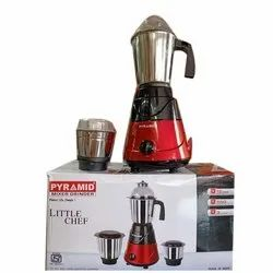 Stainless Steel Red Pyramid Mixer Grinder, Capacity: 4 Jars