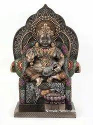 Nirmala Handicrafts Copper Finish Polyresin Kuber Ji Statue Indian God Idol Wealth God Figurine