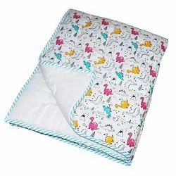 Baby Unisex Quilt Blanket In Cotton Having Soft Muslin Backing