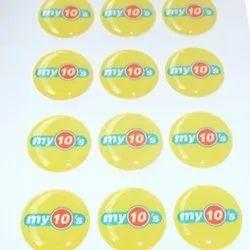 Paper 3D Vinyl Printed Sticker, Size: 2 Inch