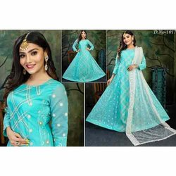 Embroidery Ladies Lucknowi Dupatta Suit
