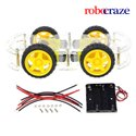 SMART Car Chassis Transparent 4Wd Racing Car - Robocraze