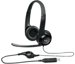 Wired Black Logitech H390 Headset, Weight: 0.197 Kg