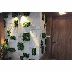 Spanish Beige CNC Mosaic With Vertical Garden